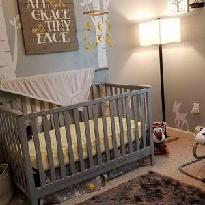 STAR & MOON crib skirt 💛